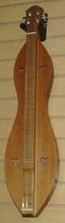 McSpadden Ginger hourglass dulcimer - Walnut and Redwood with standard case available from Prussia Valley Dulcimer Acoustic Music Shop